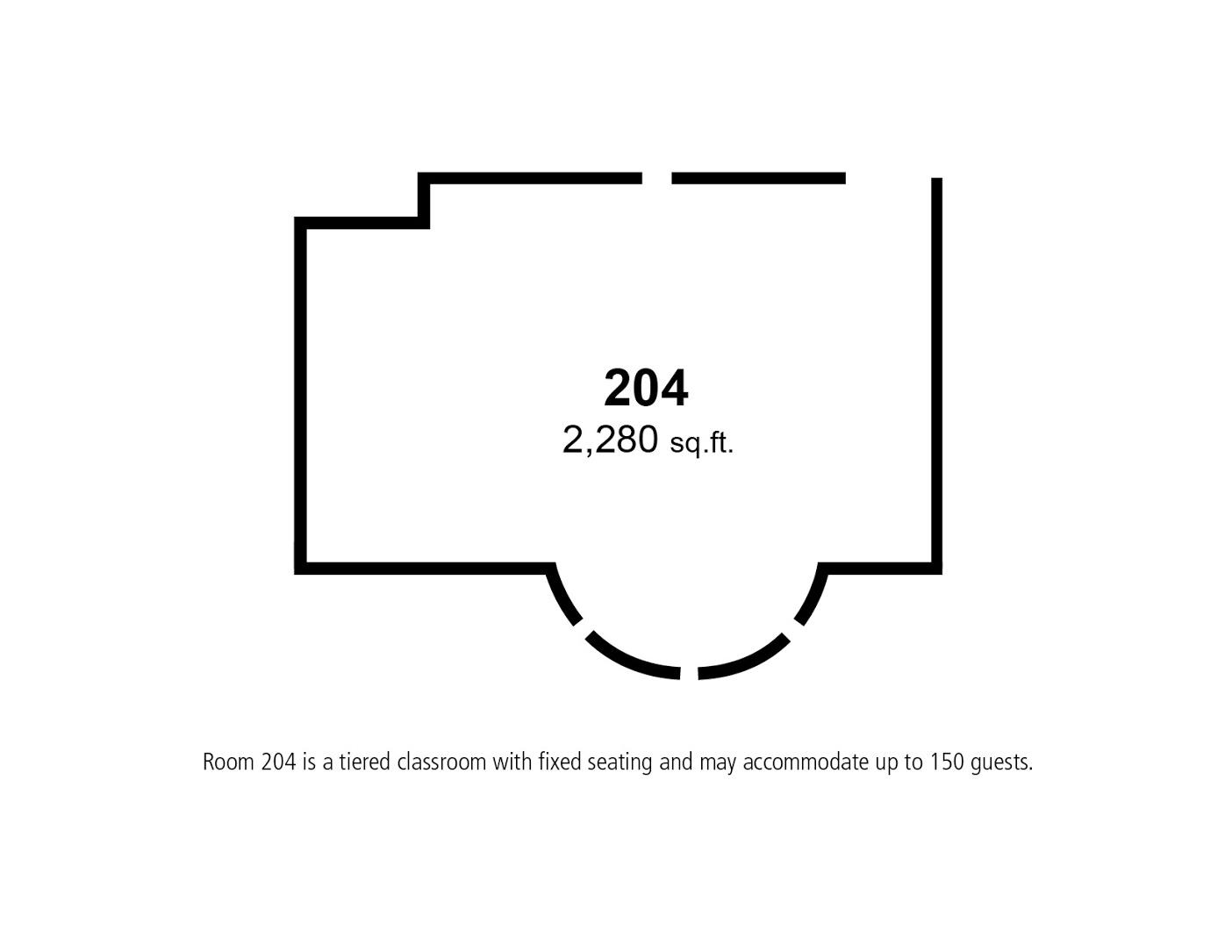 Floor Plan – Room 204