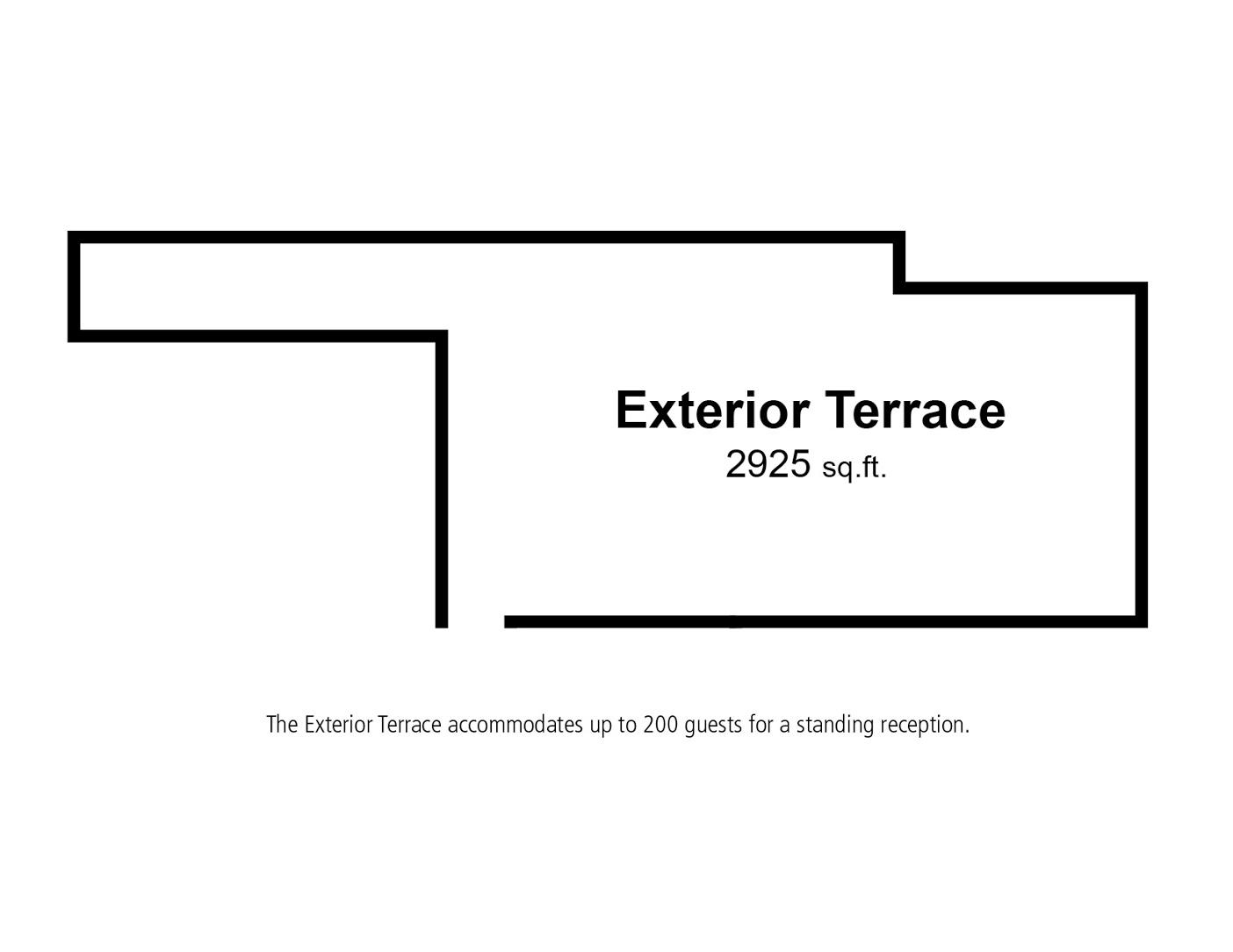Floor Plan – The Exterior Terrace