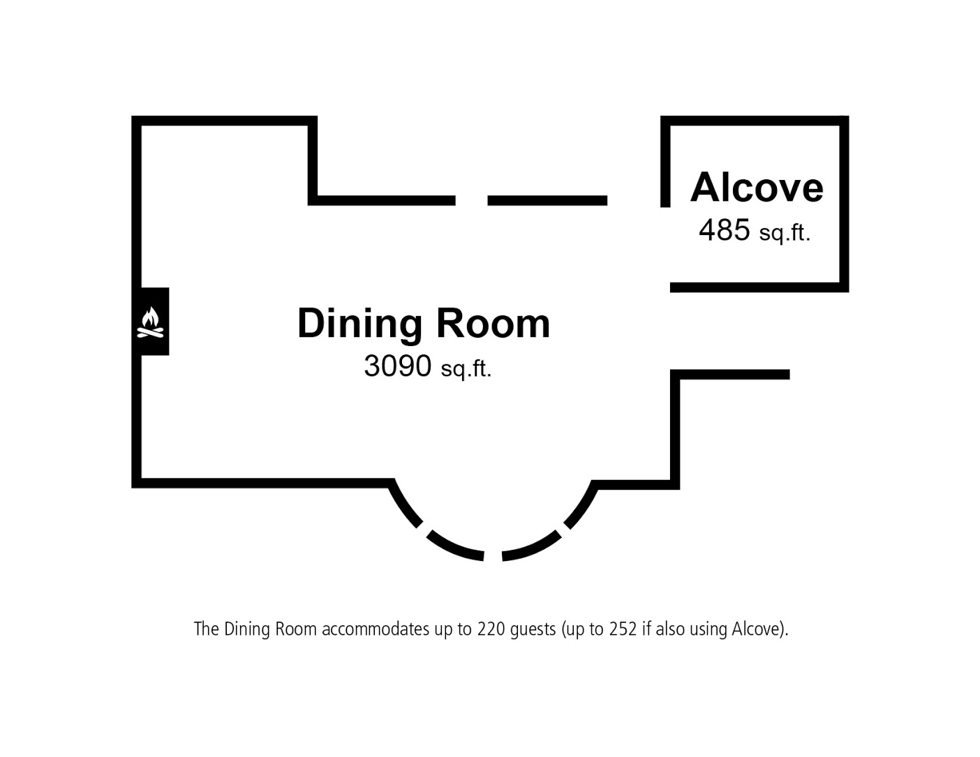 Floor Plan – The Dining Room 1
