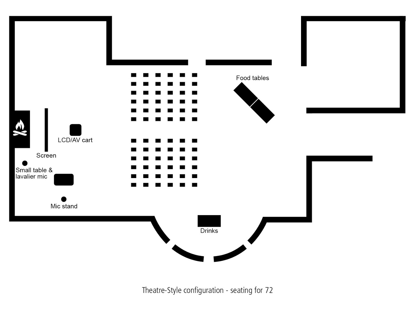 Floor Plan – The Dining Room 4